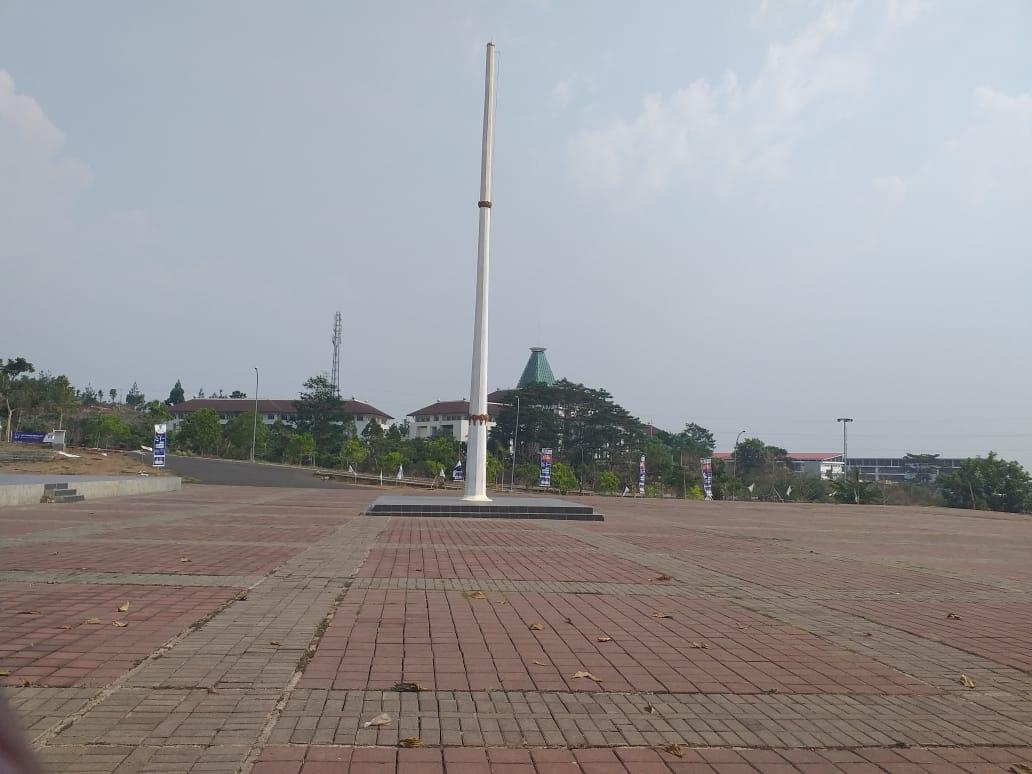 Ini tanah yang digunakan untuk upacara olek Pemkab Bandung Barat (Foto: Istimewa)
