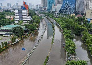 Banjir Jakarta/CNN Indonesia