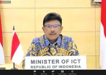 Menteri Komunikasi dan Informatika Johnny G. Plate  (Foto: istimewa)