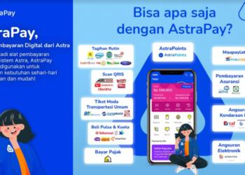 Infografis : Mari #awaliceritamudisini bersama AstraPay, sebagai solusi pembayaran digital milik Astra, yang memiliki fitur direct payment untuk produk pembayaran angsuran dari layanan Grup Astra dan dapat digunakan untuk transaksi berbagai produk dan keperluan secara mobile, di mana saat ini telah ada sekitar 9 juta merchant di seluruh Indonesia yang telah menerima pembayaran melalui QRIS. Konsumen juga akan mendapatkan AstraPoints yang dapat dimanfaatkan kembali untuk transaksi selanjutnya.