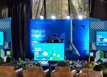 Walikota Banjar Ade Uu Sukaesih Saau menghadiri Launching Banjar Digital. (Foto:Bayu/dara.co.id)